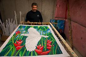 Silk artist Jean-Baptiste