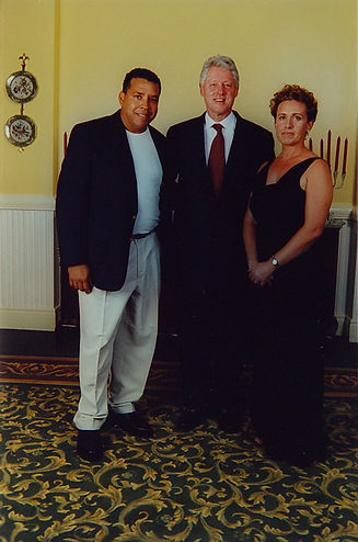 Bill Clinton with Jean-Baptiste