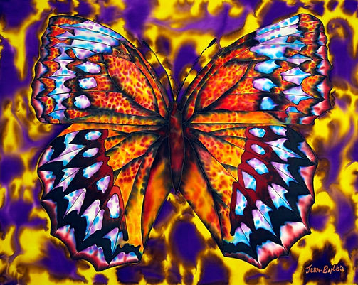 Jean-Baptiste Silk Painting of a butterfly