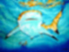 Jean-Baptiste silk painting of shark