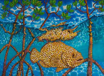 Jean-Baptiste Silk Painting of a mangrove