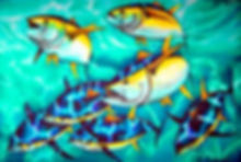 Jean-Baptiste.com Silk Painting of tuna