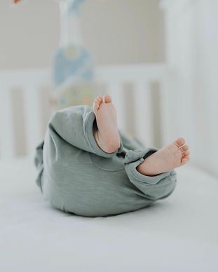 close-up-photo-of-baby-wearing-gray-pant
