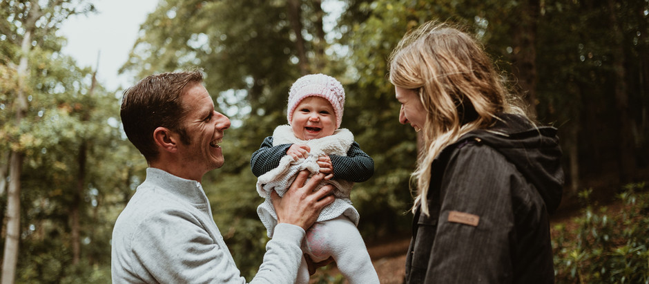 Cosy Autumn Family shoots in the woods at Nesscliffe