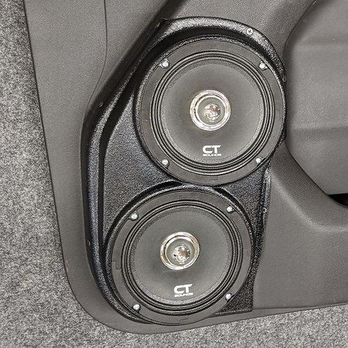2019 2020 silverado sierra front door speaker pods dual 6.5 stereo upgrade system installation