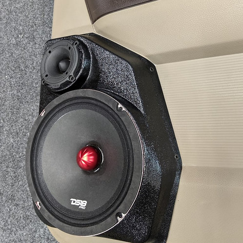 dodge ram stereo speaker upgrade pod quad cab rear door 8 inch