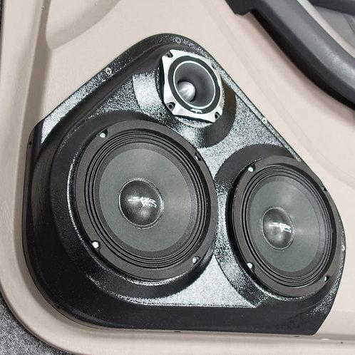 "Dual 6.5"" 3.5"" Front Door Toyota 4Runner, Custom Car Stereo"