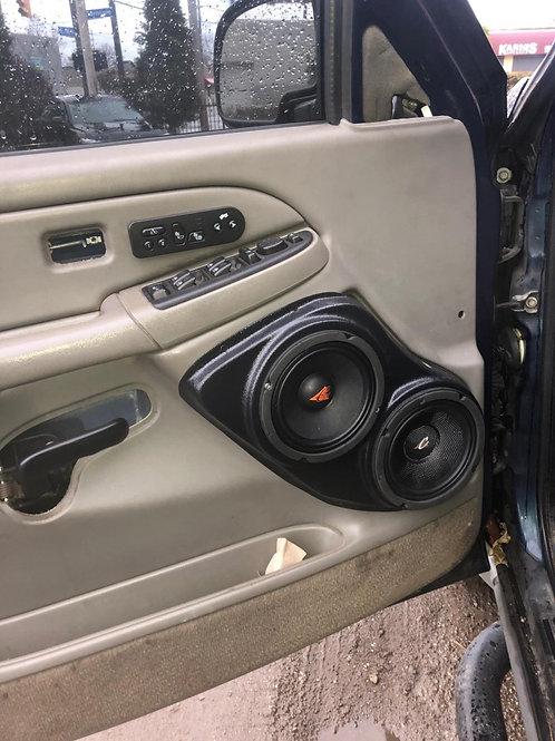 """Dual 6.5"""" Front Door Speaker Pods 00-06 GMFST"""