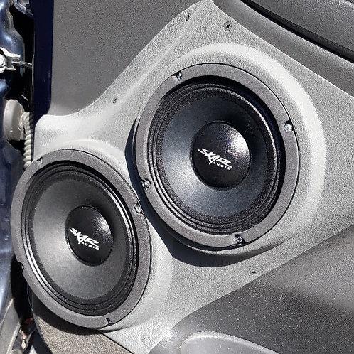 6.5 and 8 speaker pods front door chevy tahoe silverado suburban escalade stereo installation accessory