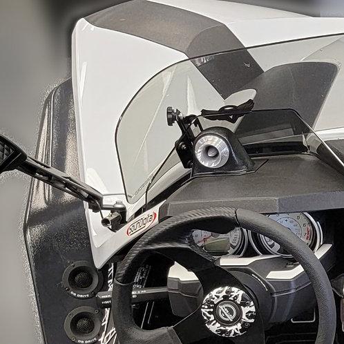 "Polaris Slingshot Audio System, Custom Speaker Pods, 1.5"" Outer Dash  Pods"