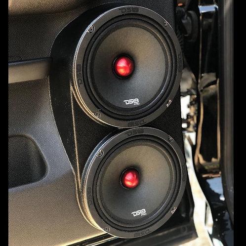 dual 8 speaker pods for silverado lt sierra sle rear crew stereo installation upgrade