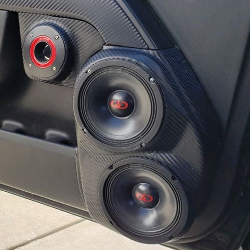 dual 6.5 speaker pods for 14-18 chevy silverado gmc sierra front door stereo system upgrade