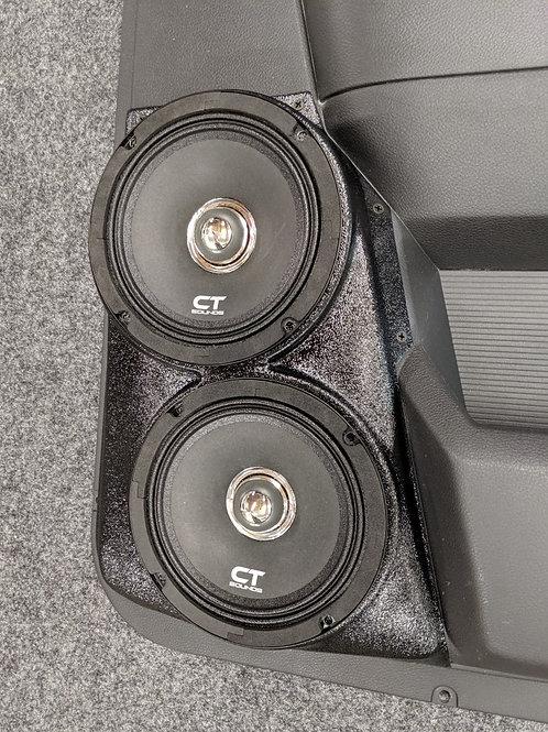 """speaker pods for dodge ram crew cab rear door dual 6.5"""""""