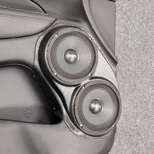 """Dual 6.5"""" Front Door Speaker Pods 11-20 Grand Cherokee Durango"""