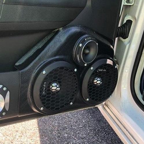 """Dual 6.5"""" Front Door Speaker Pods 08-10 Charger"""