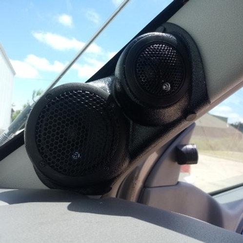 06-09 Trailblazer a pillar speaker tweeter pods stereo installation