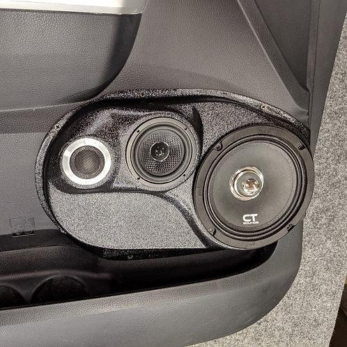 Toyota Tundra front door stereo speaker pod upgrade accessory