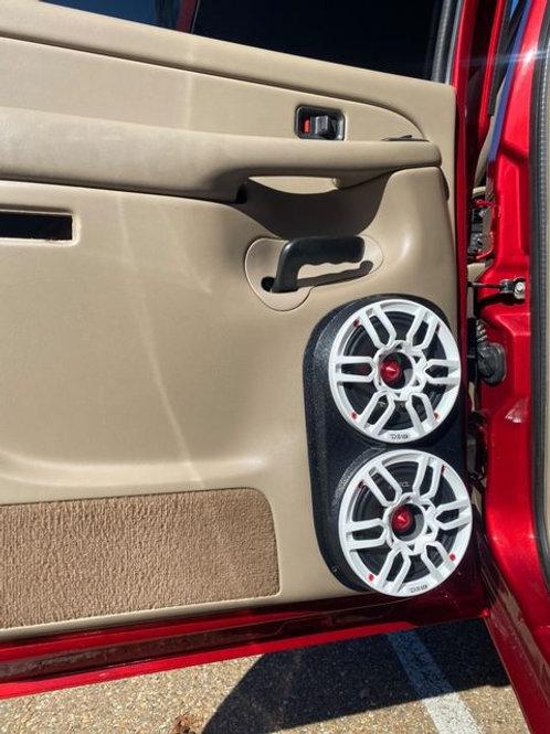 dual 6.5 speaker pods tahoe suburban silverado rear door stereo upgrade