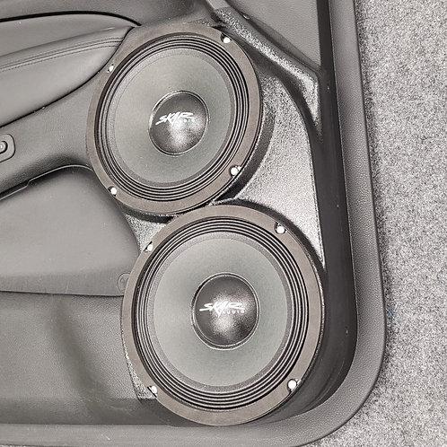 """Dual 8"""" Front Door Speaker Pods 11-20 Grand Cherokee Durango"""