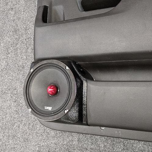 """14-18 silverado sierra crew cab rear door 8"""" speaker pods"""