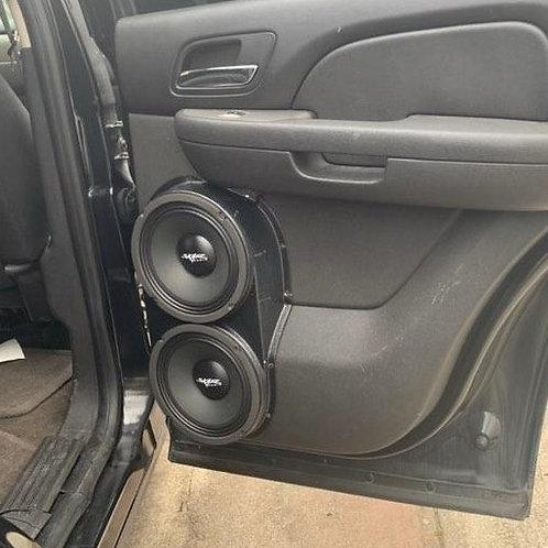 dual 8 speaker pods rear door tahoe yukon stereo installation upgrade