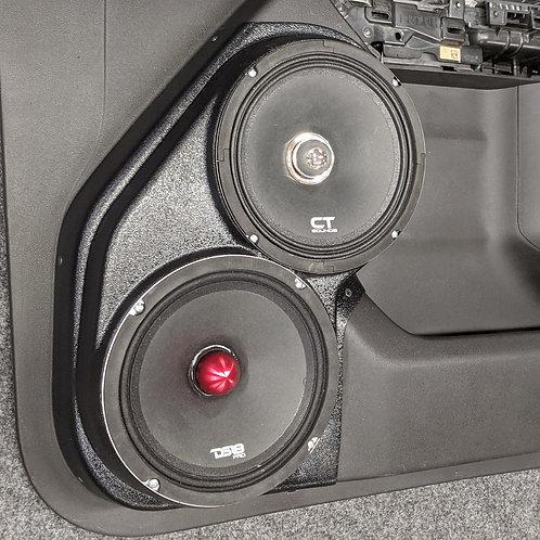 dual 8 front door speaker pods sierra silverado stereo upgrade system install
