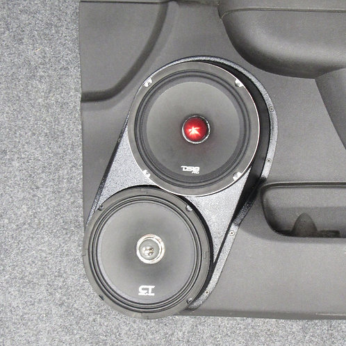 dual 8 front door speaker pods tahoe yukon suburban stereo upgrade installation