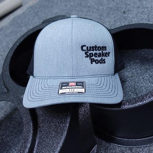 CSP Snapback Trucker Hat Grey w/ Black Stitching