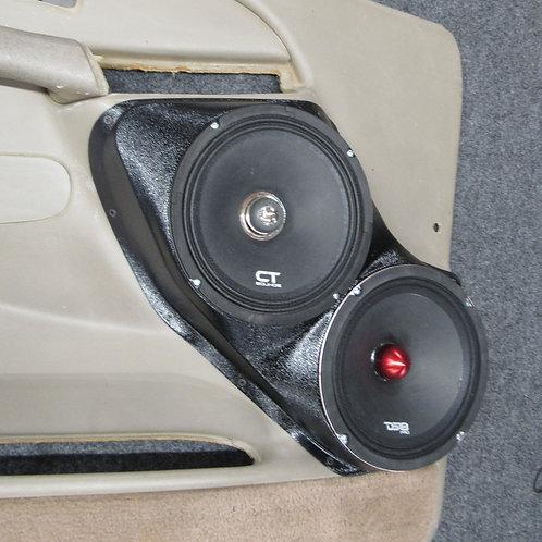 2000-2006 Tahoe silverado front door speaker pods dual 8 stereo upgrade