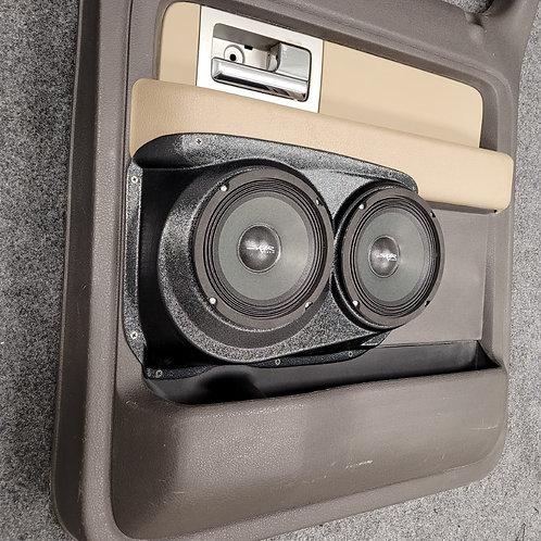 09-14 F150 Crew Cab, Rear Door Speaker Pods, Dual 6.5