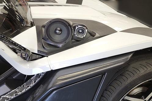 Polaris Slingshot Hood Custom Speaker Pods, Polaris Slingshot Audio Upgrades