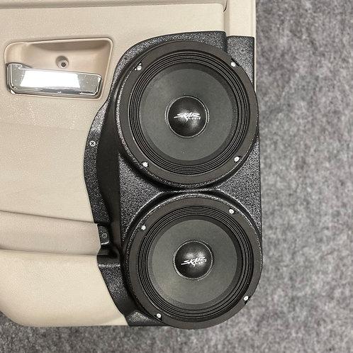 """05-10 Grand Cherokee Rear Door Custom Speaker Pods for Dual 6.5"""""""
