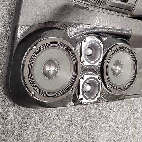 """Front Door, Dual 6.5"""" and dual 3.5"""" Speaker Pods, 03-12 Crown Vic Grand Marquis"""