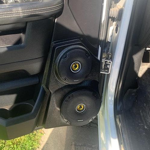 Ram truck 1500 front door speaker pods for 6in speakers kicker stereo installation upgrade