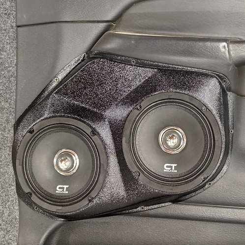 dodge ram custom stereo speaker pods dual 6.5