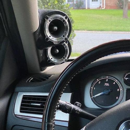 a pillar speaker pods tahoe suburban yukon silverado escalade custom stereo upgrade installation driver