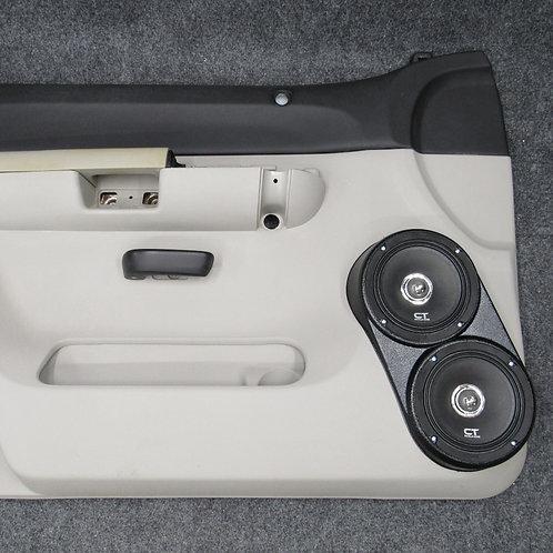 front door dual 6.5 speaker pods flangless hidden screws Fits Chevrolet Tahoe Suburban Silverado GMC Sierra Yukon Cadillac