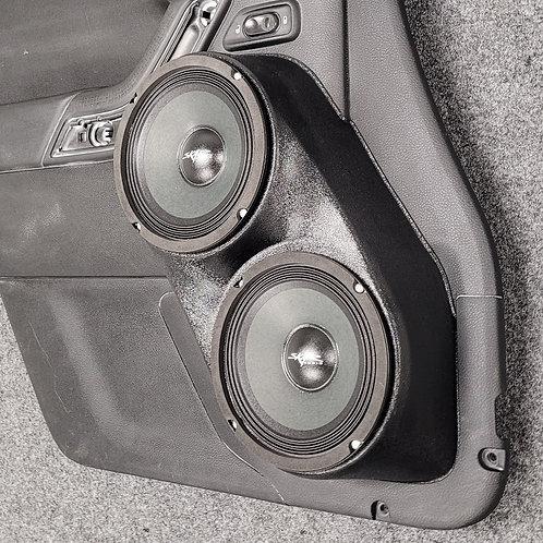 Jeep wrangler jk front door speaker pods for stereo upgrade installation dual 6.5