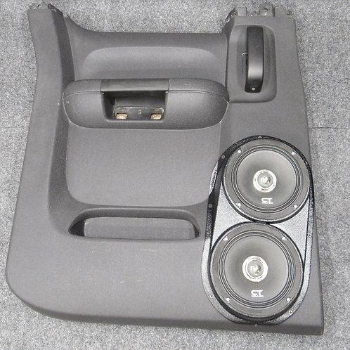 "2007 2008 2009 2010 2011 2012 2013 silverado LT sierra sle rear extended cab speaker pods for dual 6.5"" stereo installation"