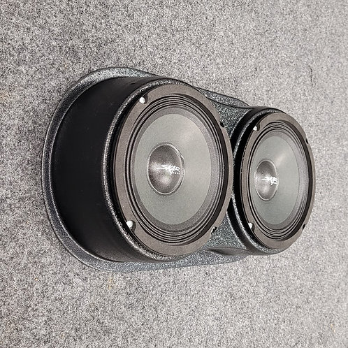 "Universal dual 6.5"" speaker pod for flat mount locations"