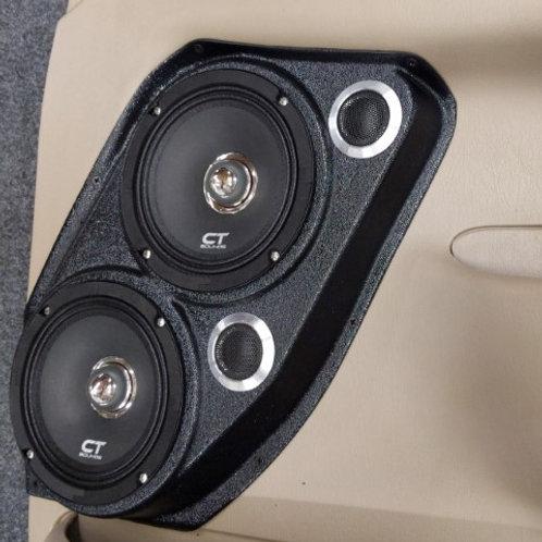 """Ford F250 speaker pods dual 6.5"""", front door stereo system door panel"""