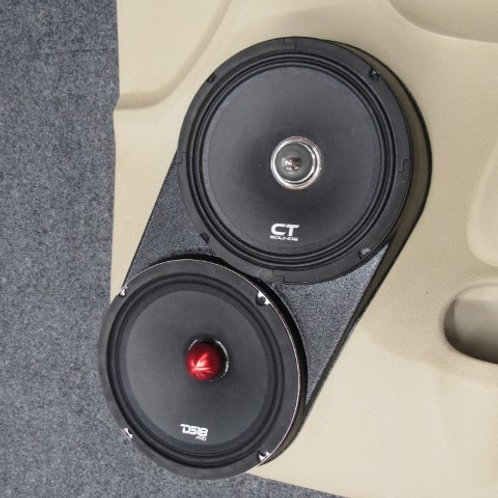 front door speaker pods for dual 8 stereo speaker upgrade flangeless tahoe silverado