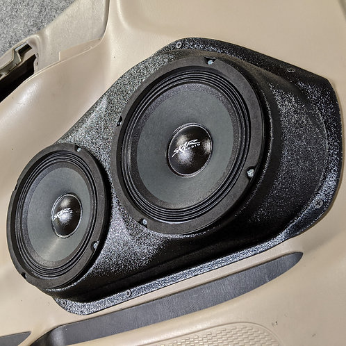 "1999-2003 ford f150 extended cab front door speaker pods for dual 6.5"" stereo system upgrade"