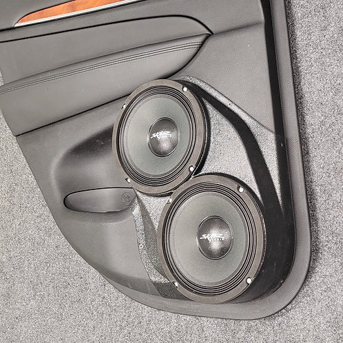"Dual 8"" Rear Door Speaker Pods 11-20 Grand Cherokee Durango"