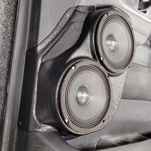 """2019-2021 Dodge Ram, Dual 6.5"""" Front Door Speaker Pods"""