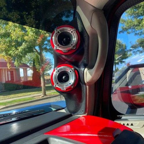 hummer h2 a pillar speaker pods stereo upgrade system