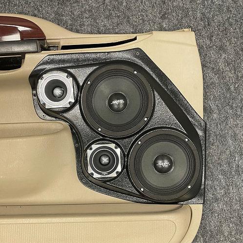 """Dual 6.5"""" and 3.5"""" Front Door Speaker Pods 99-07 F250"""