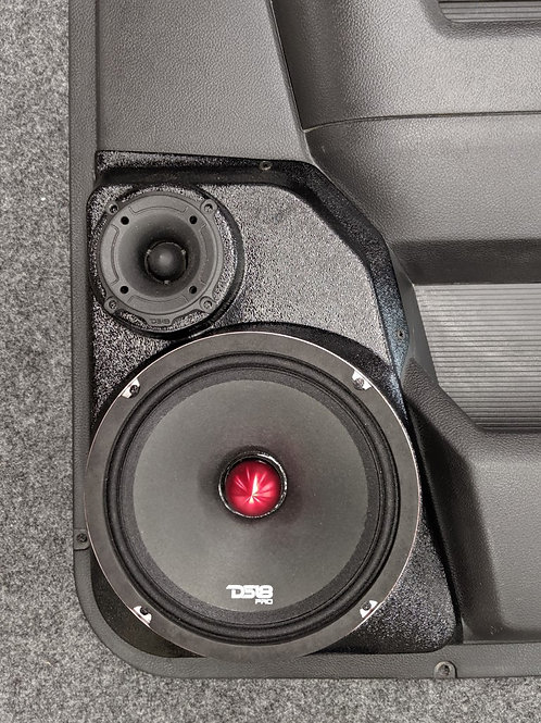 dodge ram stereo speaker upgrade mega cab rear door speaker pod