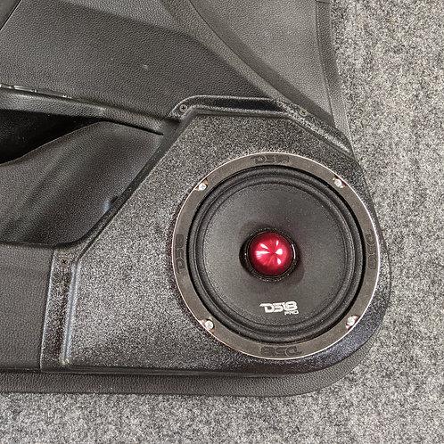 "6.5"" speaker pods front door honda civic stereo upgrade system installation"