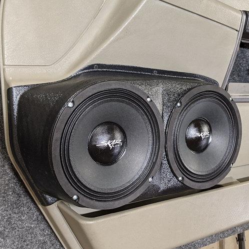 """2004-2007 H2 Hummer door panel dual 8"""" speaker pod upgrade"""